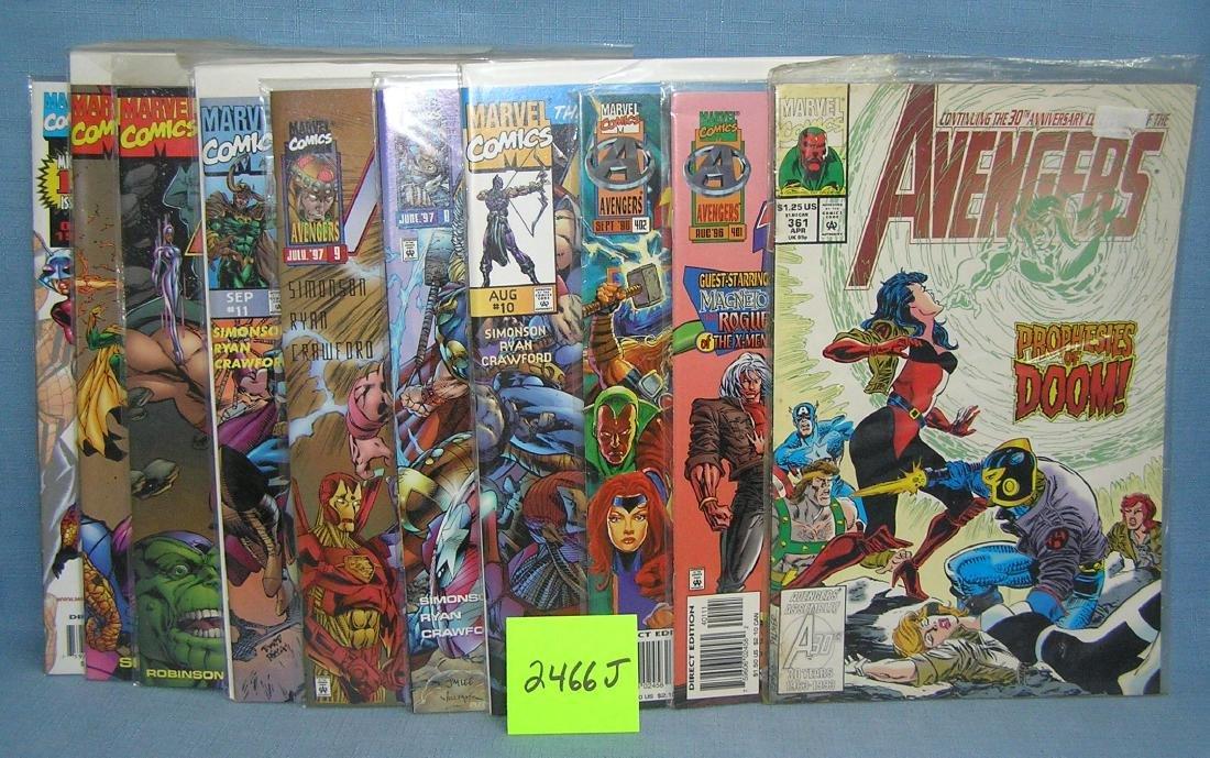 Marvel Avengers comic books