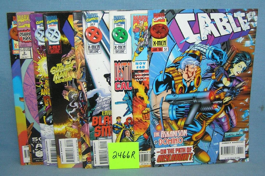 Marvel Cable and Xmen comic books