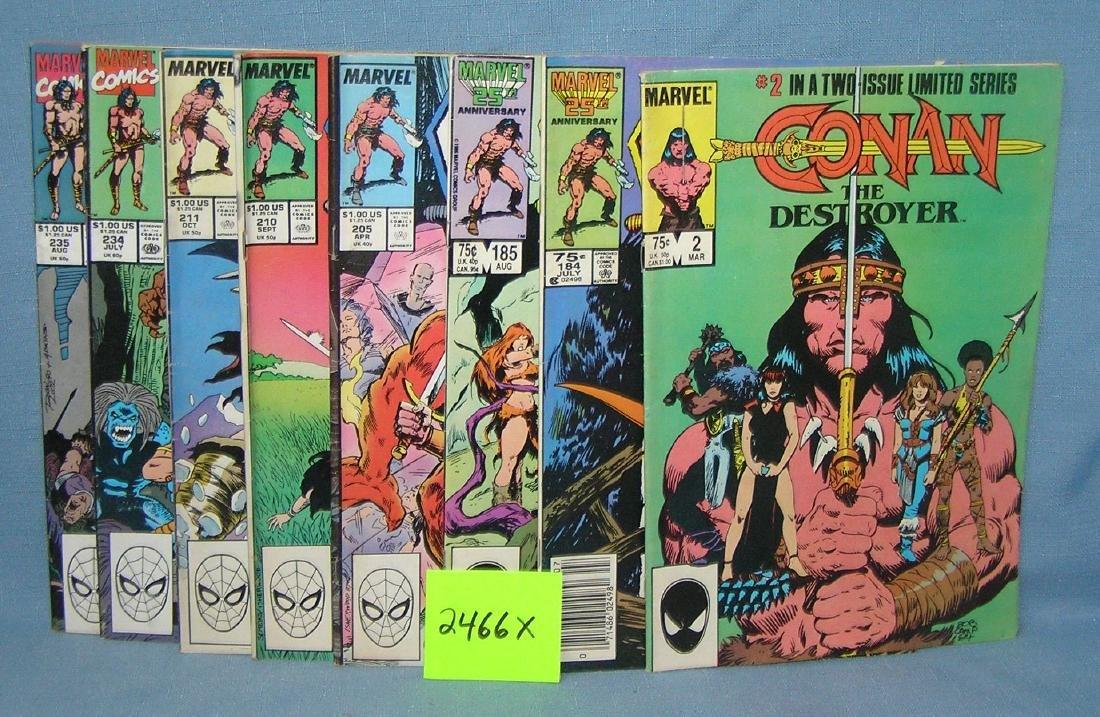 Marvel Conan comic books