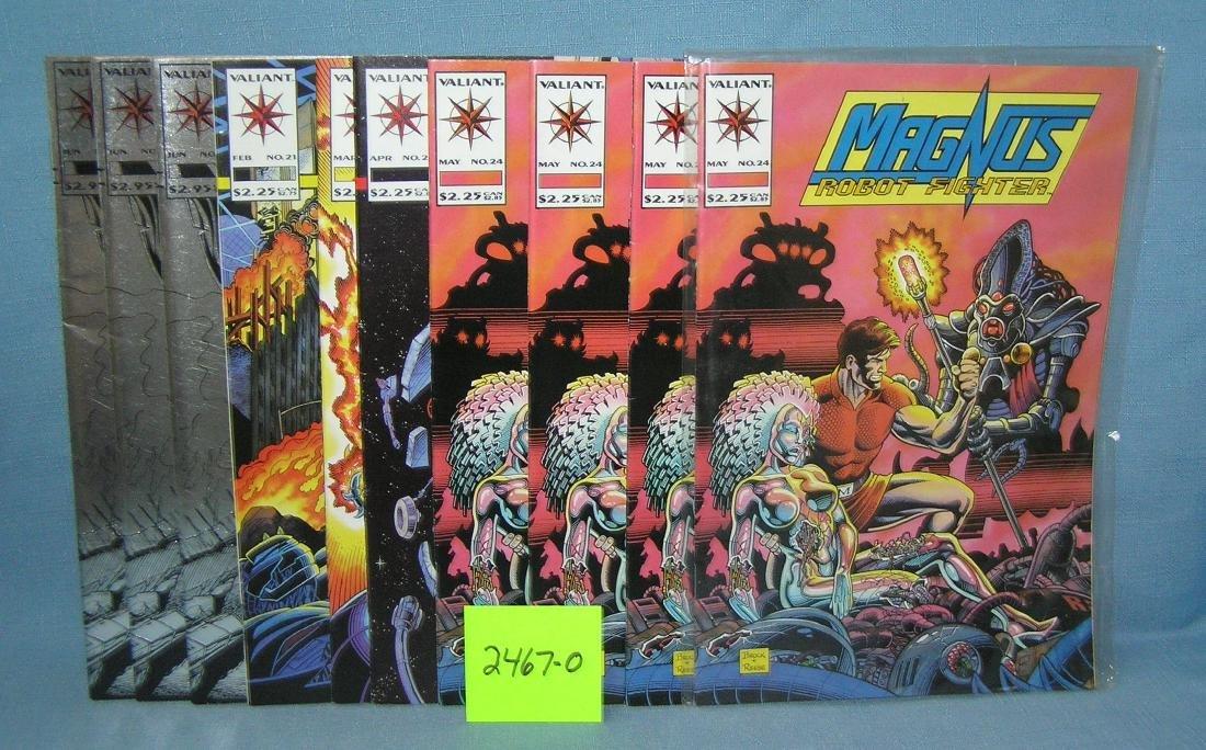 Group of vintage Magnus Robot comic books