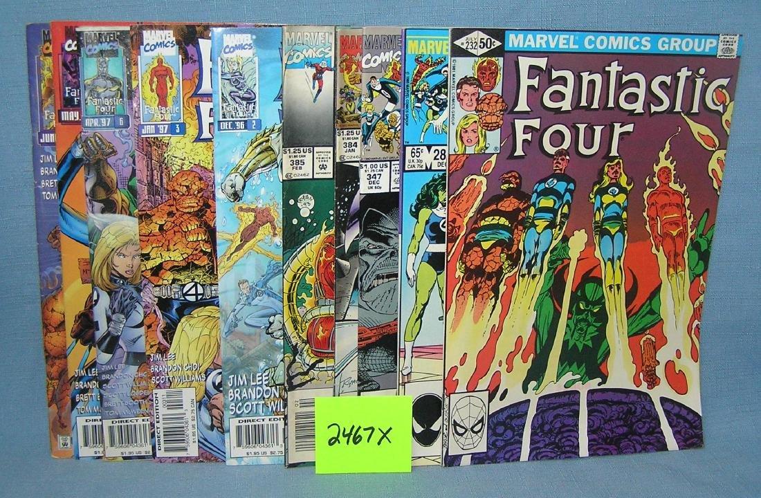 Group of vintage Marvel Fantastic 4 comic books