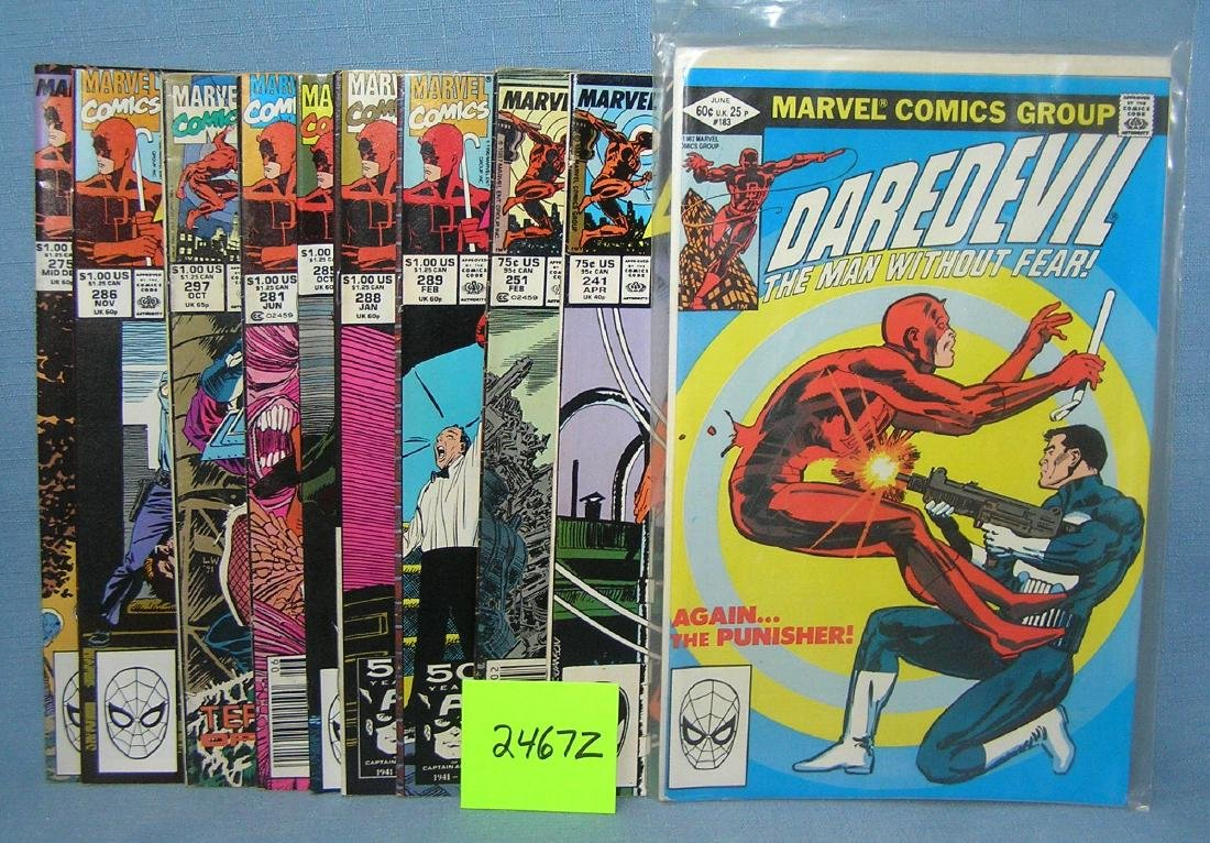Group of vintage Marvel Dare Devil comic books