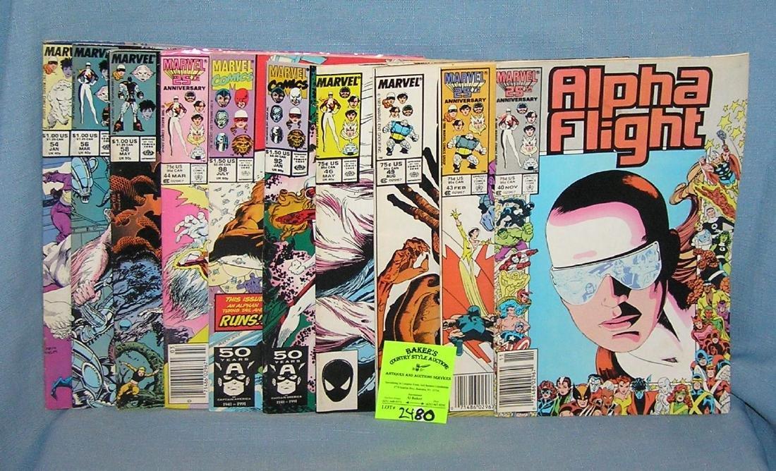Vintage Marvel Alpha Flight comic books