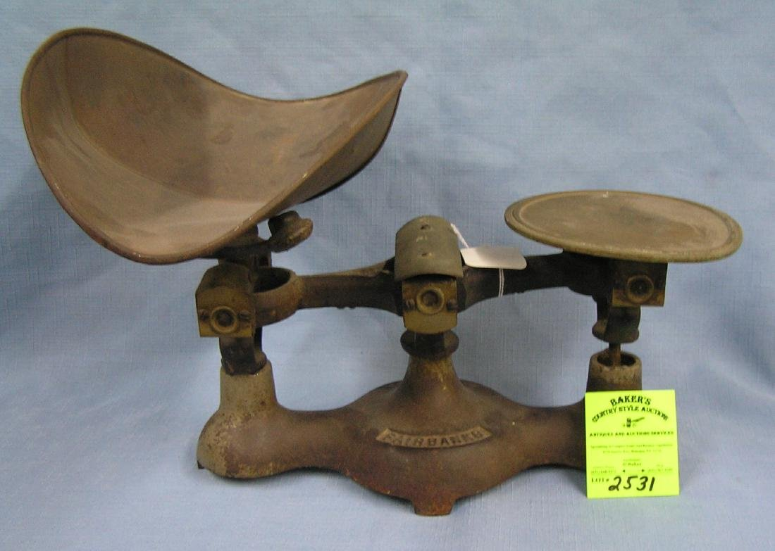 Antique Fairbanks candy store scale