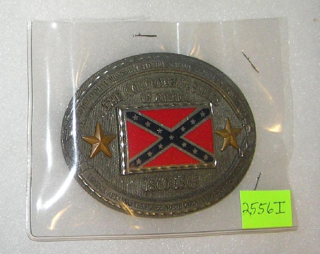 Confederate Civil War commerative belt buckle