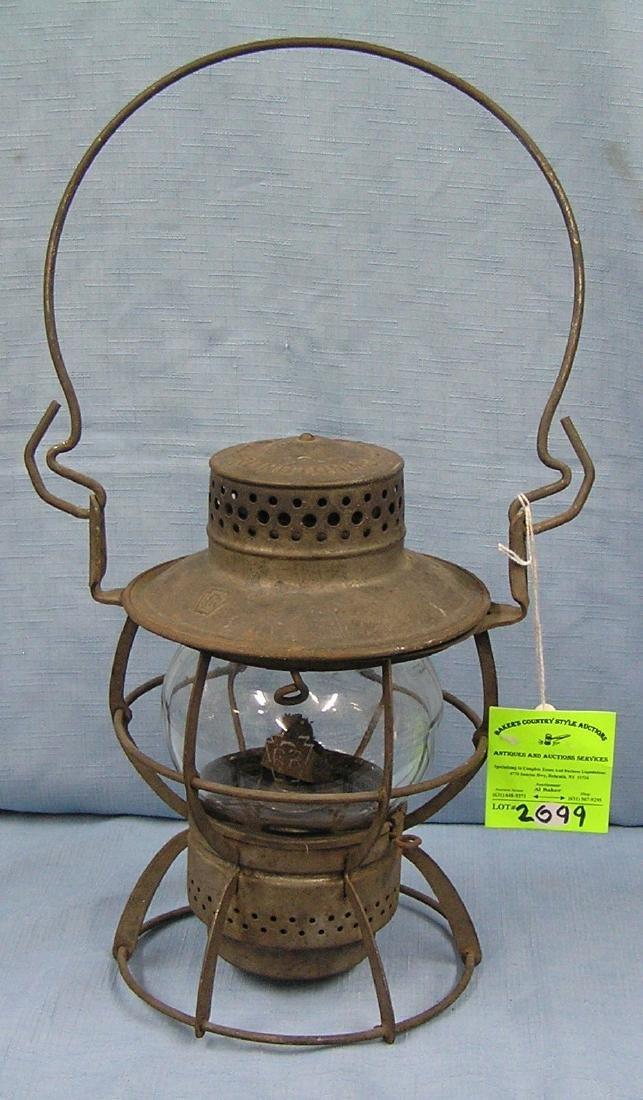 Antique Pennsylvania railroad lantern