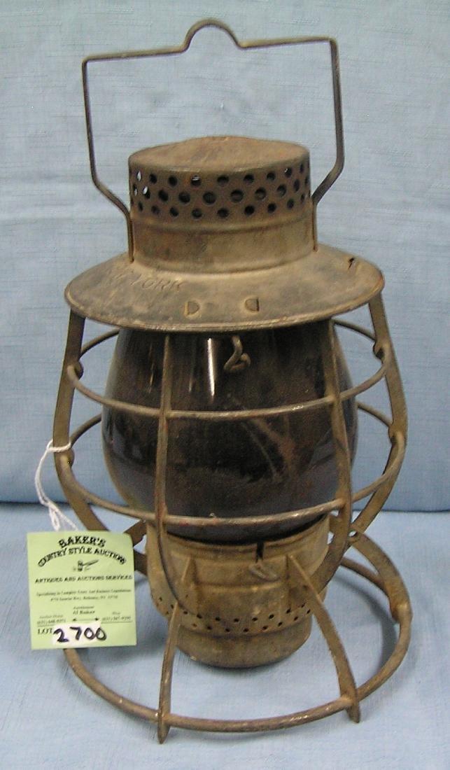 Antique city of New York railroad lantern
