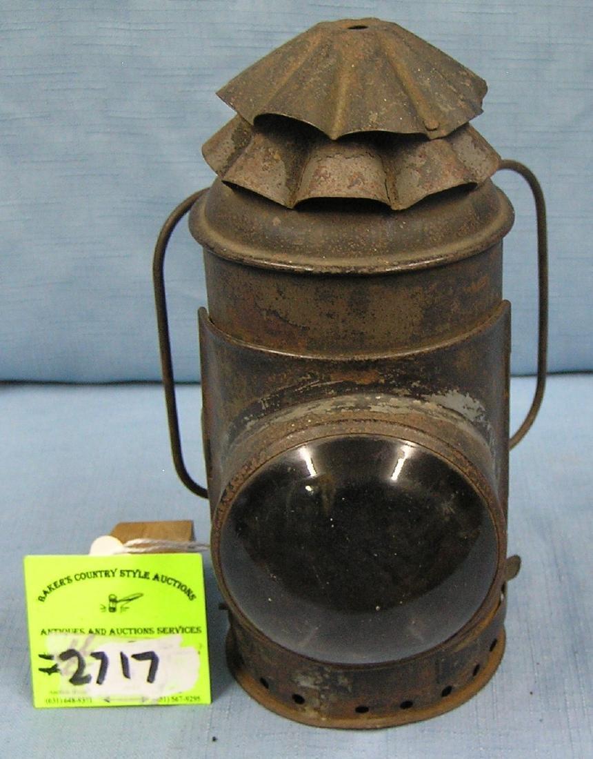 Antique Dietz police oil lantern