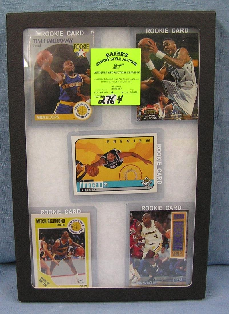 Collection of vintage all star Basketball rookie cards