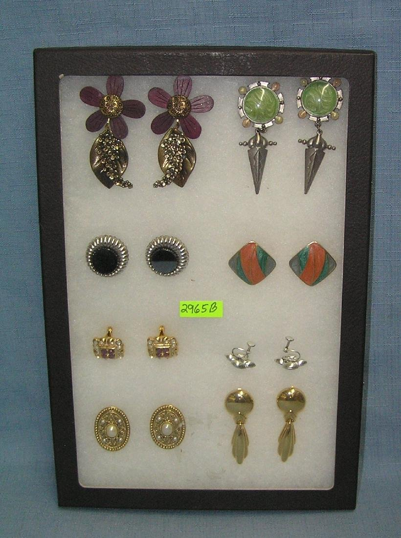 Collection of vintage earring sets