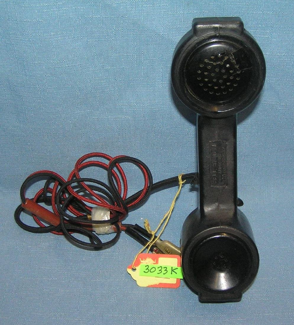 Early signed Bell System telephone early 1900's