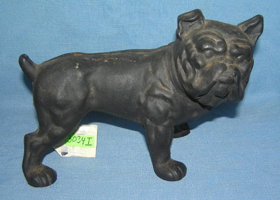 Cast iron bull dog bank