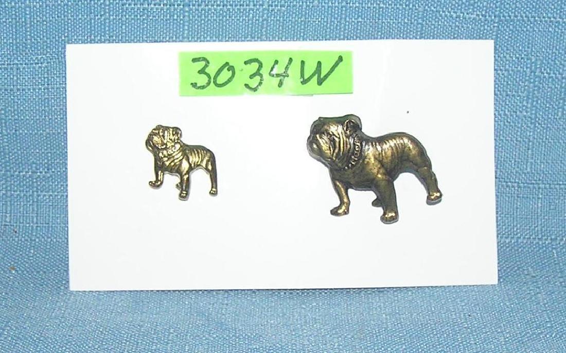 Pair of bull dog Mack Truck pins