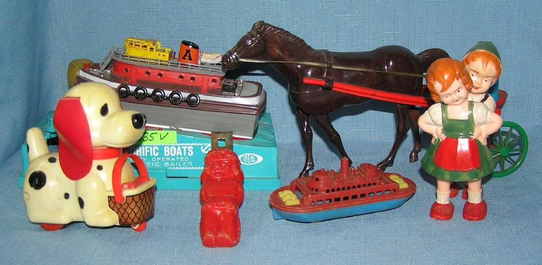 Vintage hard plastic toys and collectibles