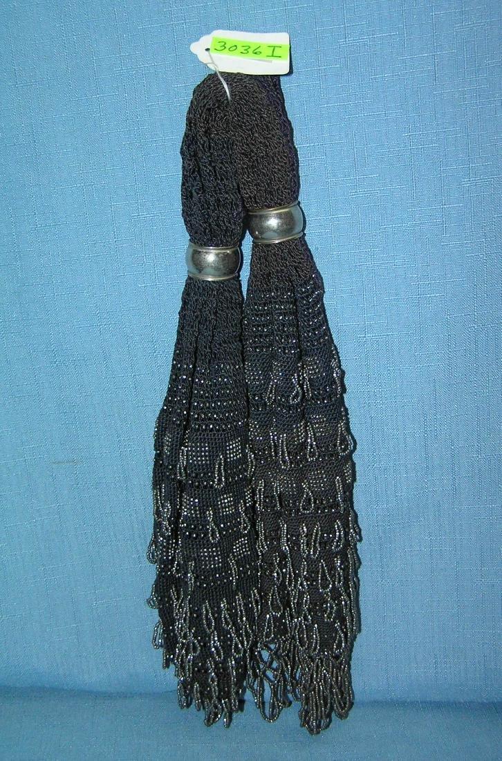 Antique beaded miser's purse