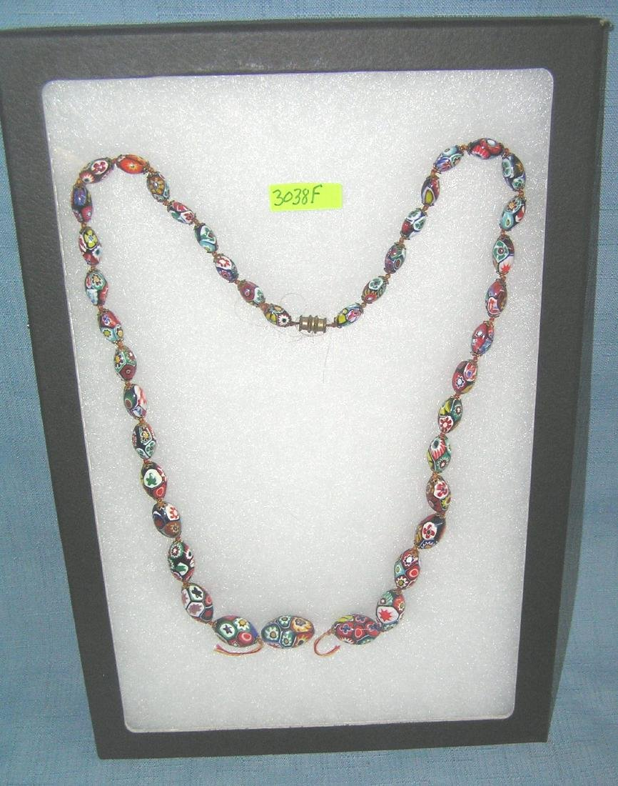 Vintage Venetian beaded necklace