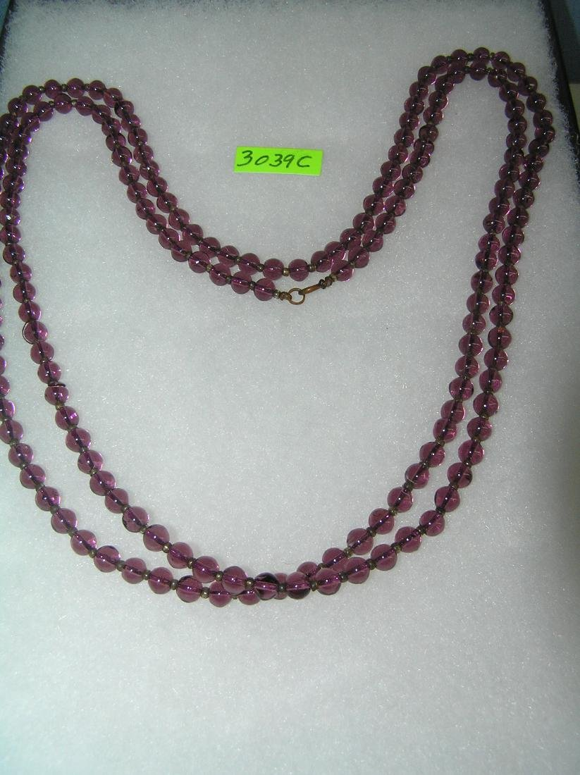Antique purple beaded necklace