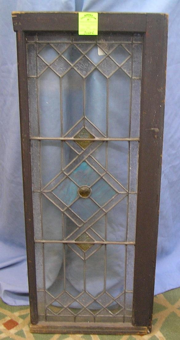 High quality antique leaded stained glass window