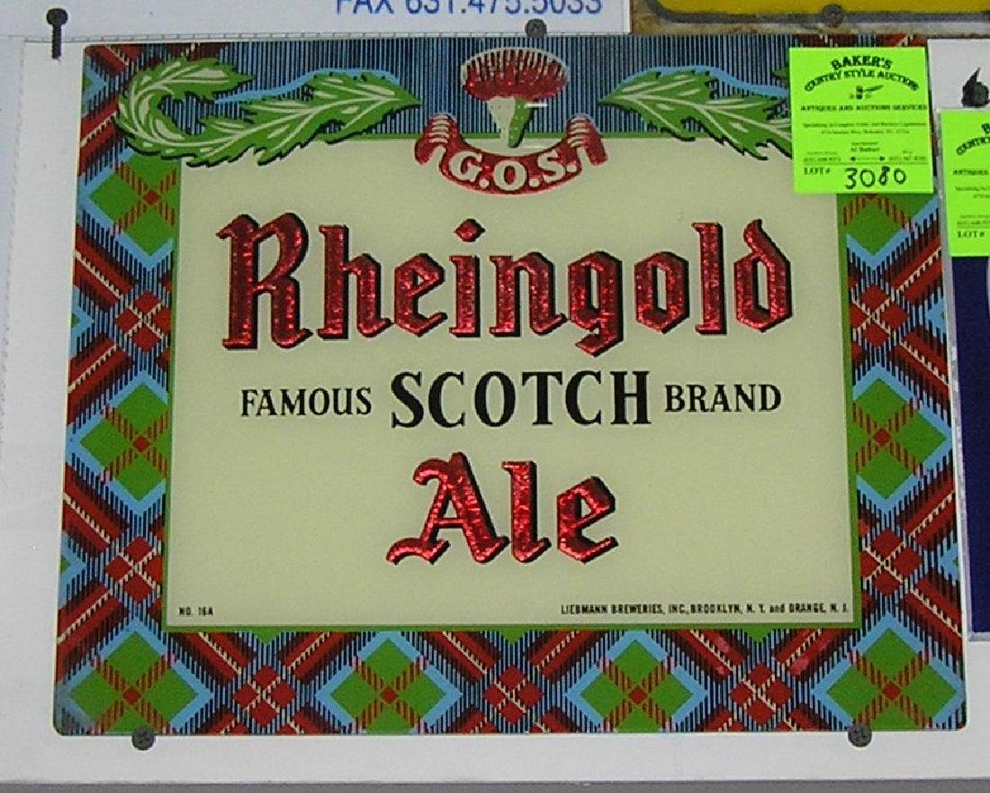 Rheingold Scotch Ale advertising sign