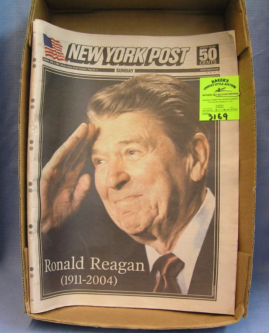 Vintage Ronald Reagan newspaper