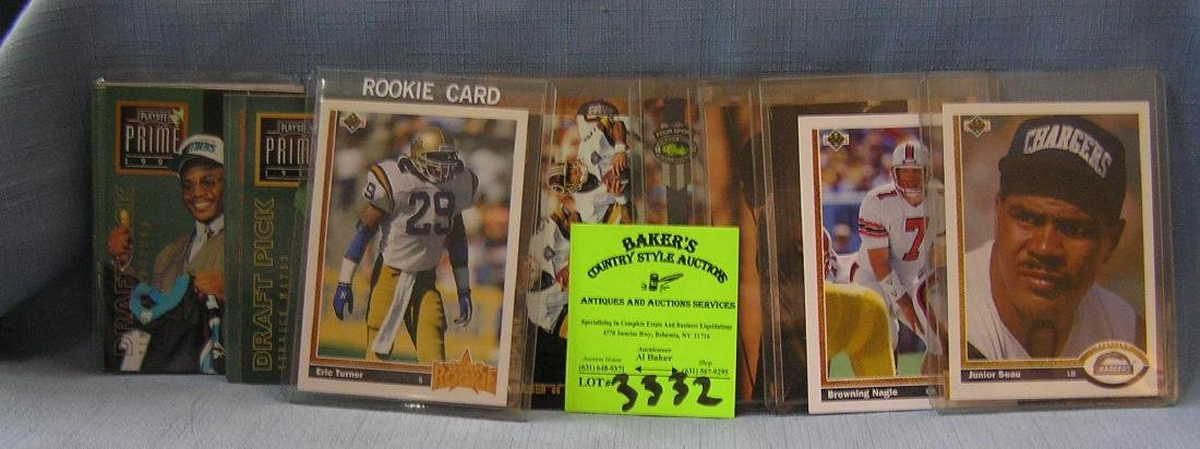 All star football cards mostly rookie cards