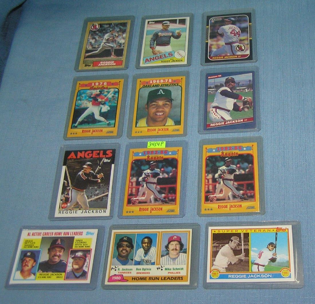 Collection of Reggie Jackson Baseball cards