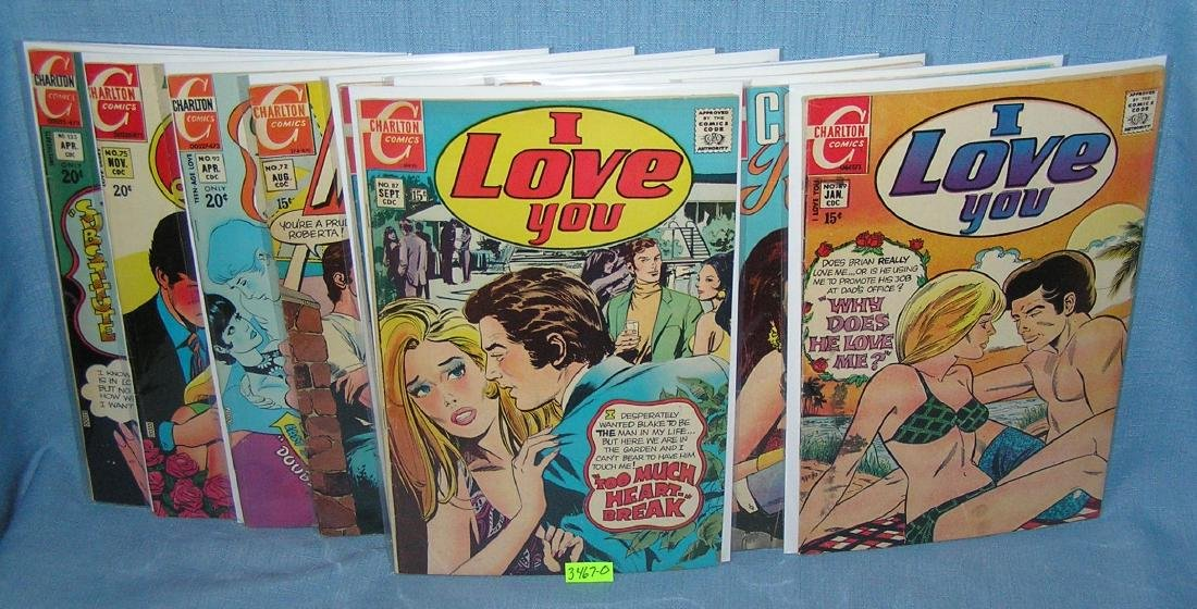 Early love and romance related comic books