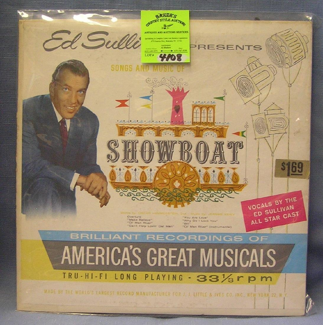 Ed Sullivan Songs And Music Of Showboat record