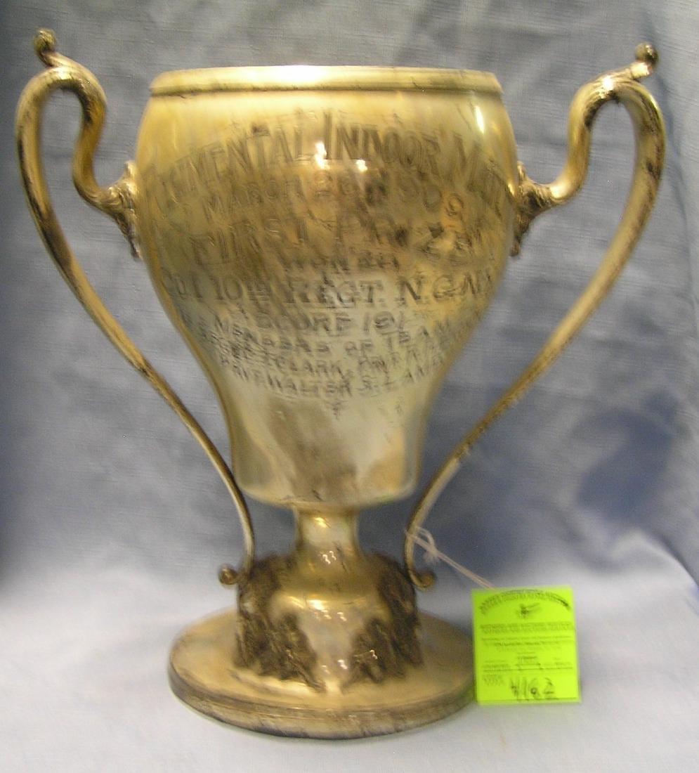 Antique military regimental presentation trophy