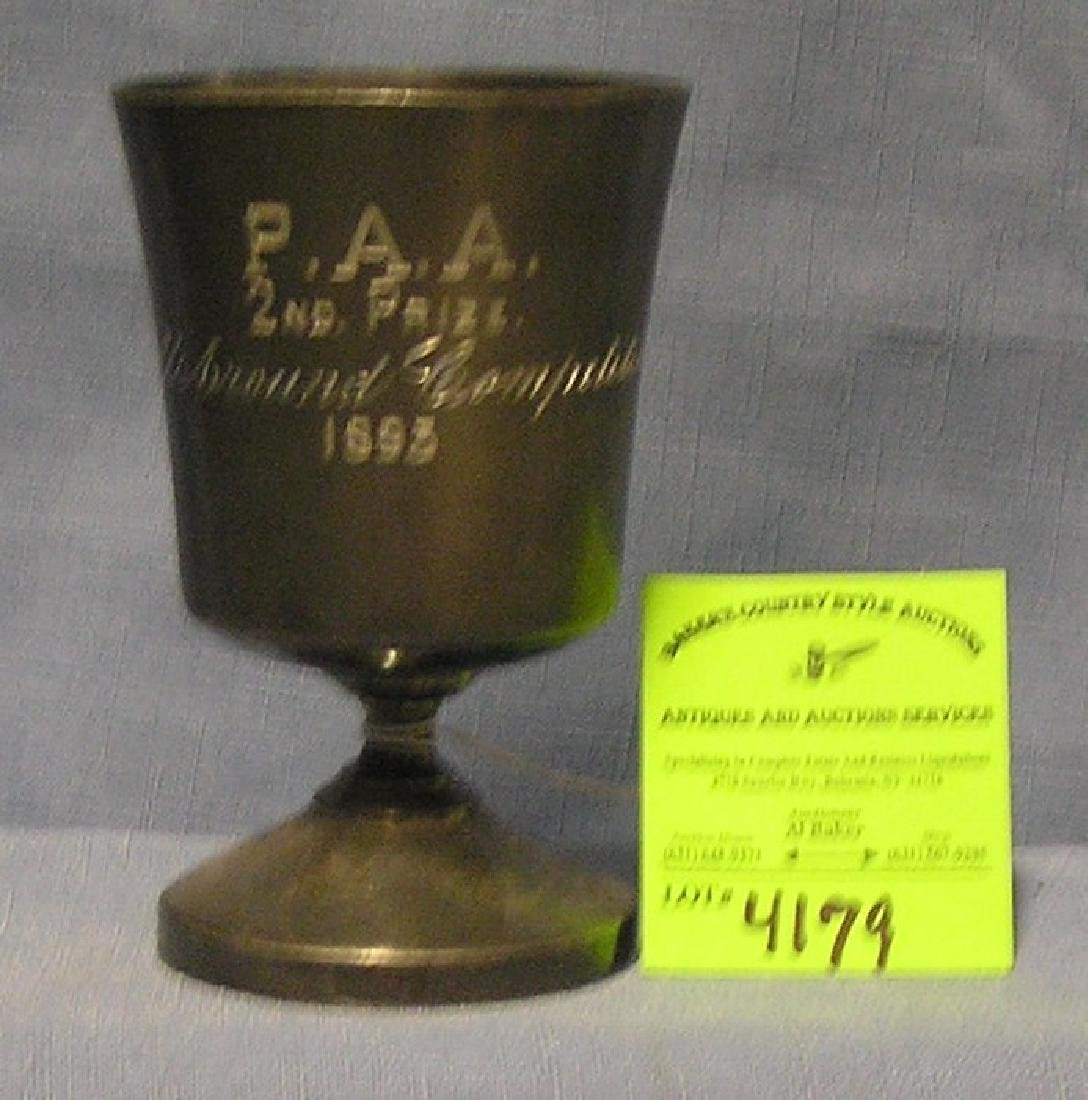 Antique pewter presentation cup for the P.A.A.