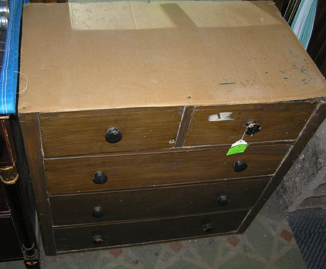 Antique five drawer chest