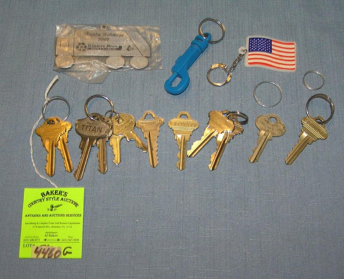 Group of keys and key chains
