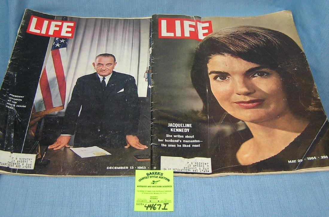 Pair of vintage LIFE magazines