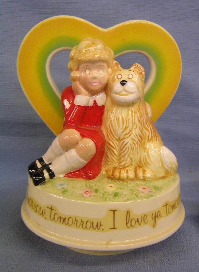 Little Orphan Annie porcelain figurines and music box