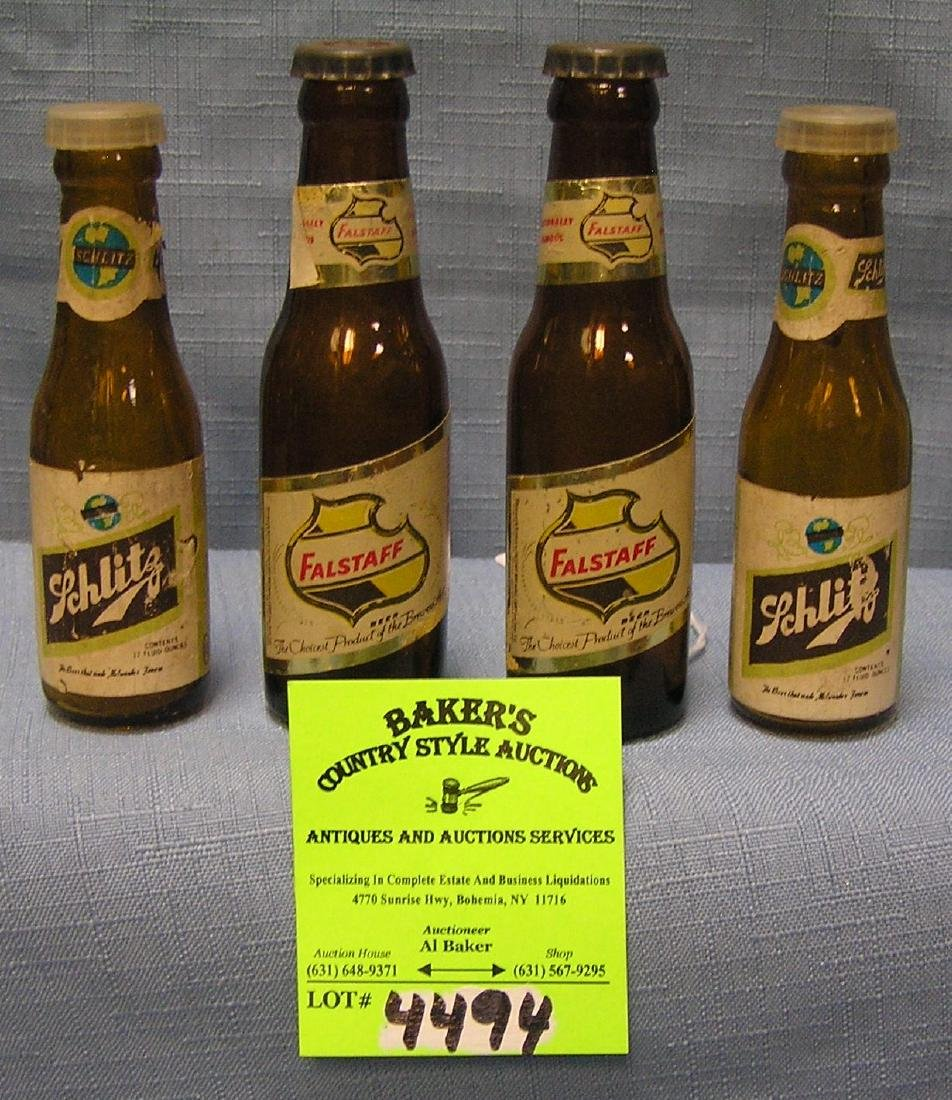 Vintage beer bottle advertising salt and pepper shakers