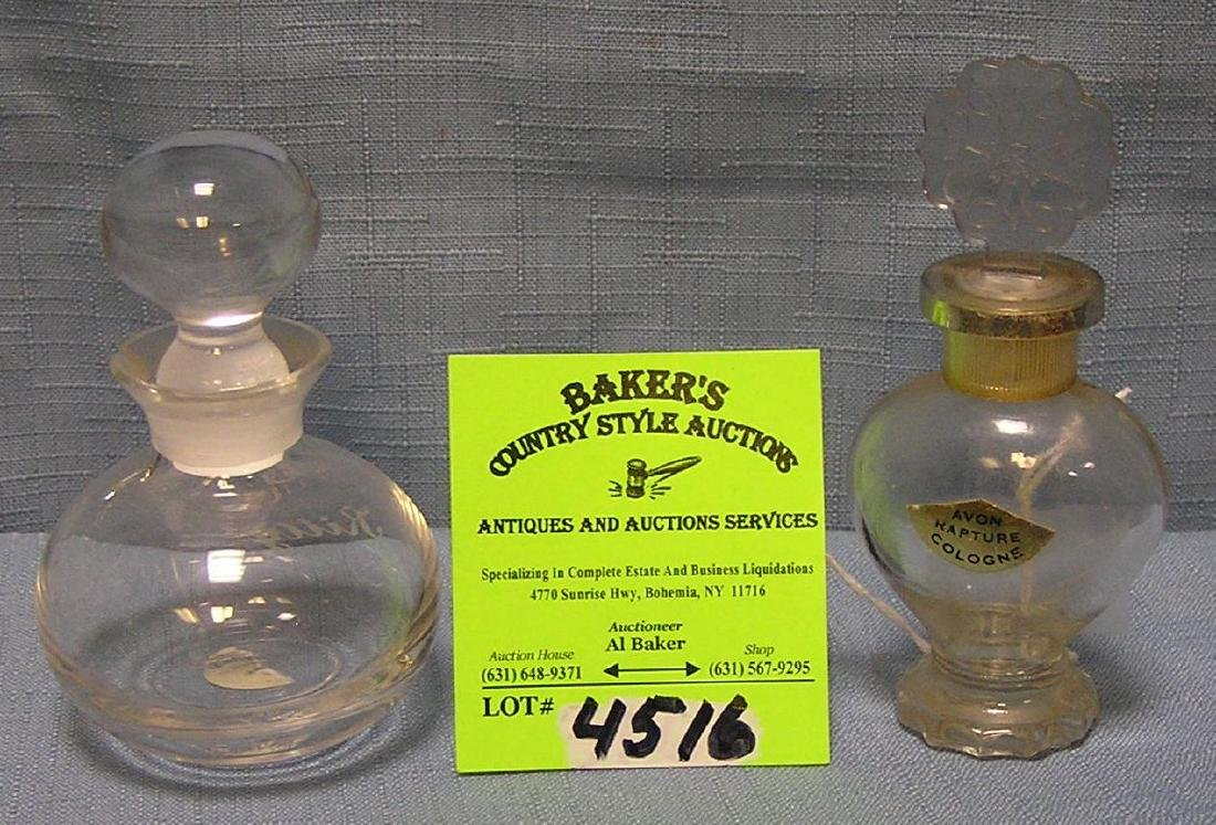 Pair of vintage perfume decanters