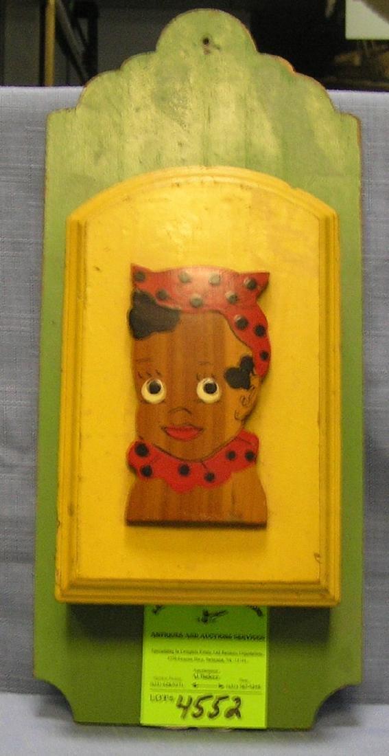 Black Americana kitchen wall mount knife holder