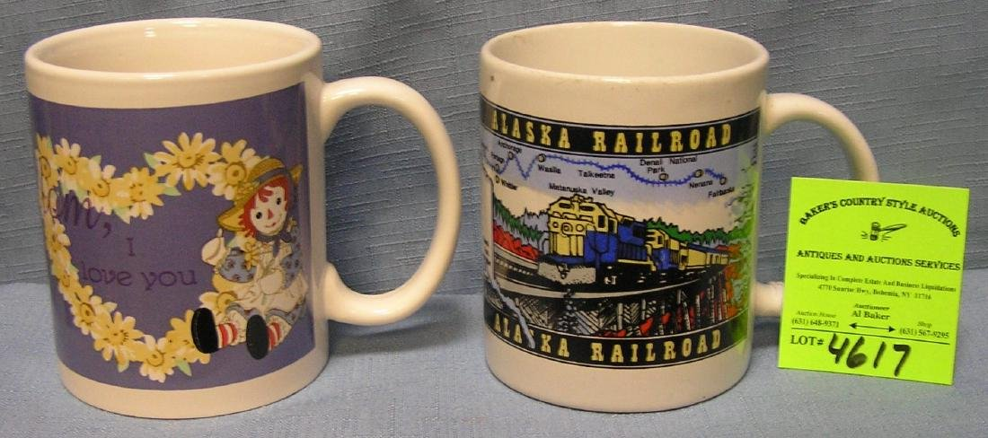 Pair of vintage souvenir mugs