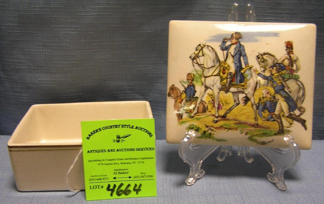 Vintage Napoleon decorated trinket box