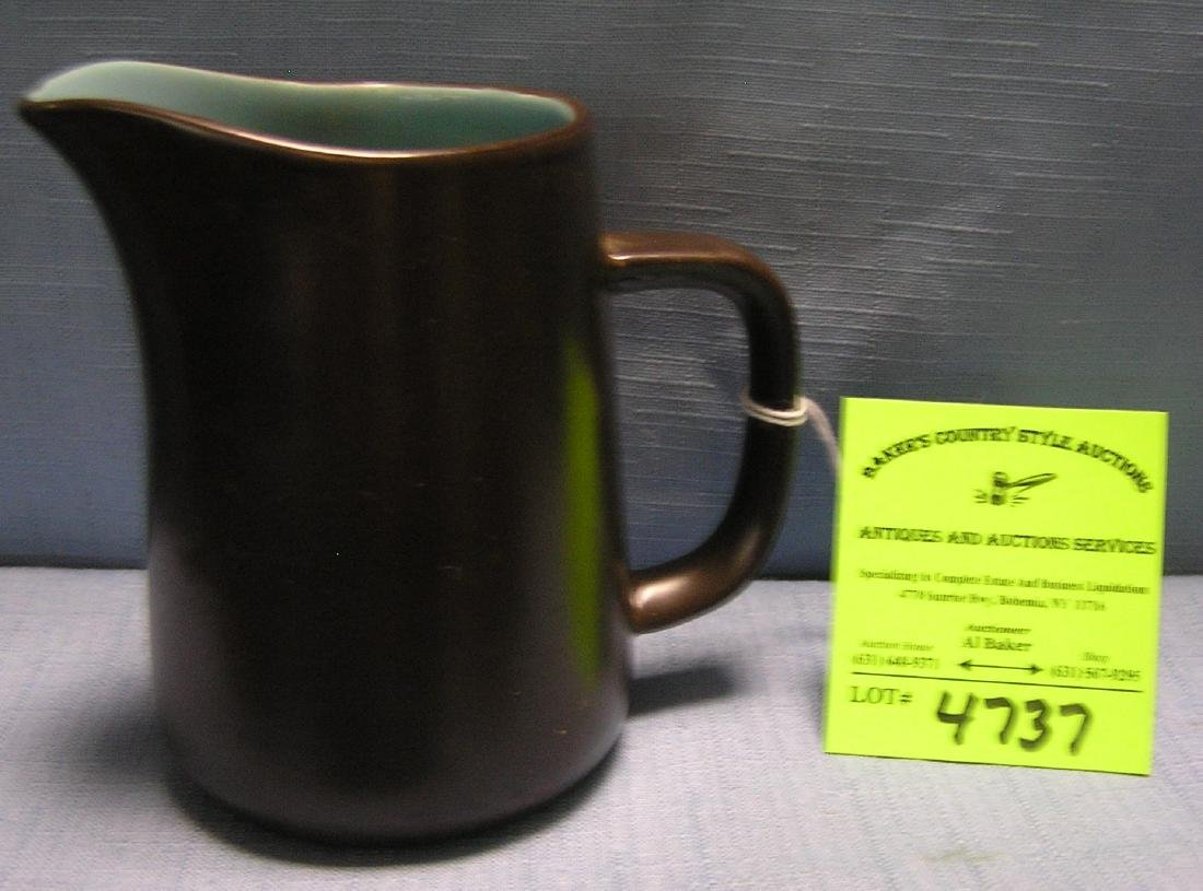Vintage art pottery creamer signed Macasa