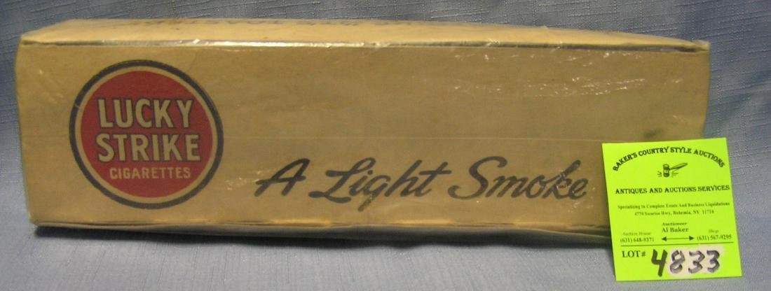 Early Lucky Strike cigarettes carton box