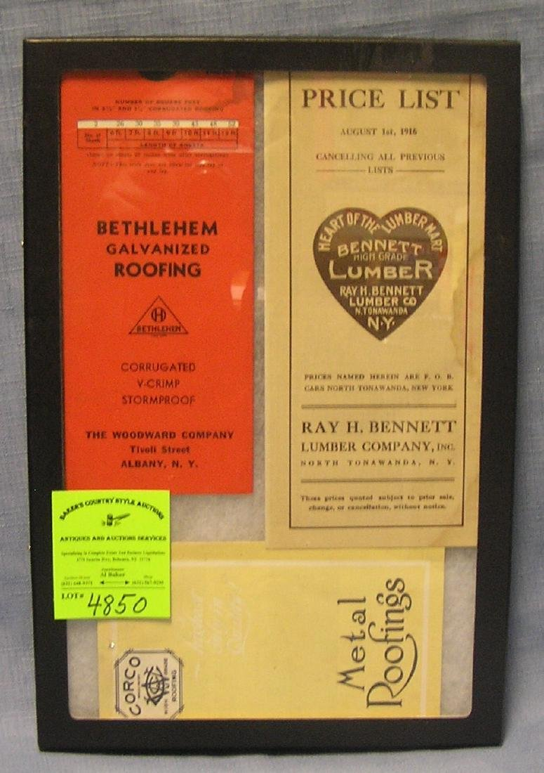 Group of early advertising booklets