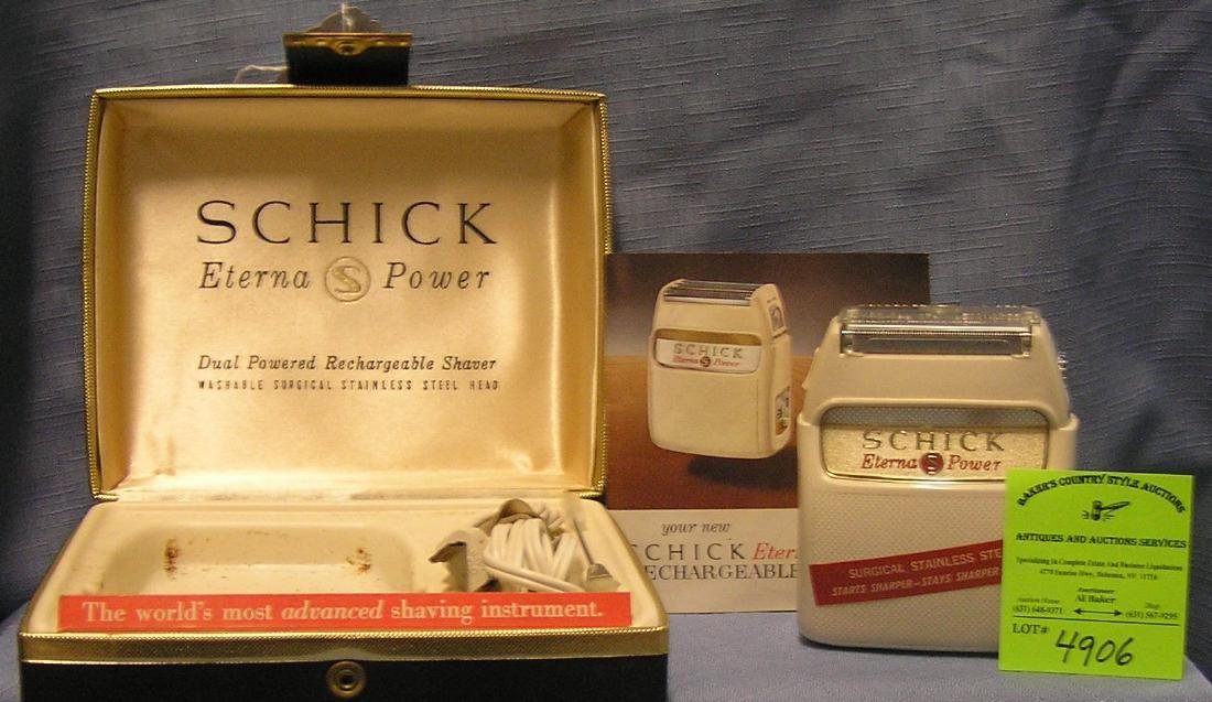 Vintage Schick Eterna power rechargeable shaving kit