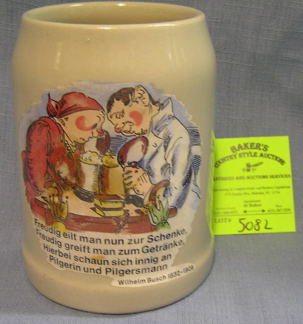 Antique character themed German beer mug