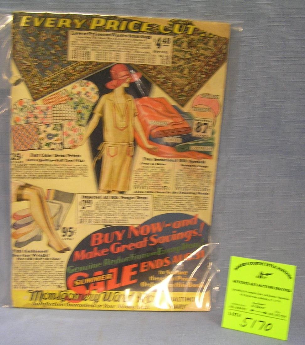 Original Montgomery Ward and Co. sales catalog