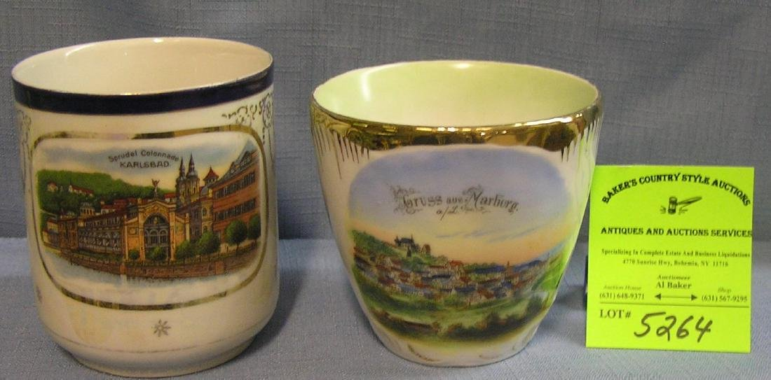 Pair of great early souvenir cups of Germany