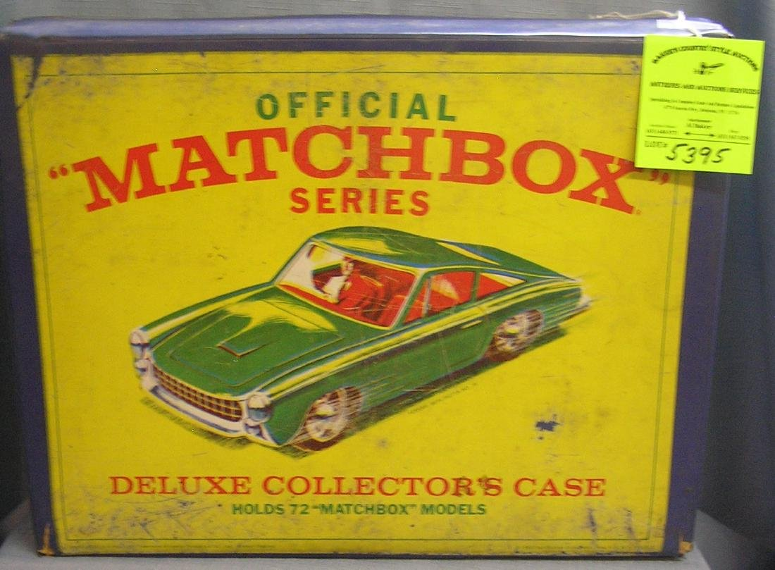Vintage official Matchbox deluxe collectors case