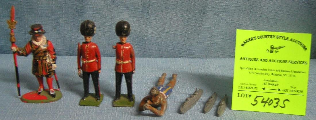 Group of vintage metal toys and collectibles