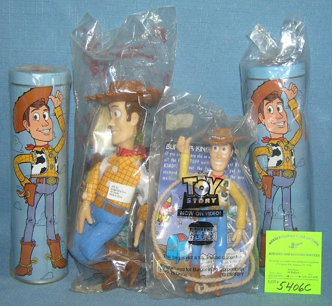 Group of vintage toy story toys and collectibles