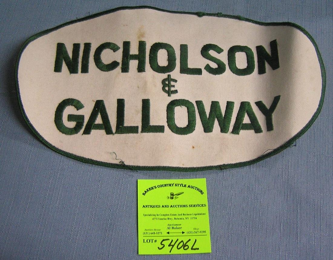 Nicholson and Galloway Large Golding patch